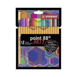 STABILO Filzstift Fineliner point 88 ARTY, 18 Farben