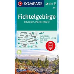 KOMPASS Wanderkarte Fichtelgebirge Bayreuth Marktredwitz 1:50 000