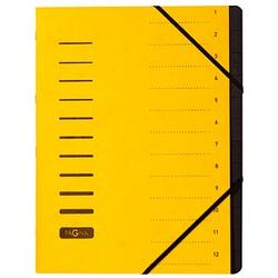 PAGNA Ordnungsmappe Ordnungsmappen 12 Fächer gelb