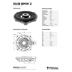FOCAL Multiroom-Lautsprecher (Focal ISUB BMW 4, Untersitz-Subwoofer BMW 20cm)