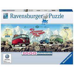 Mit dem VW Bulli über den Brenner. Puzzle 1000 Teile