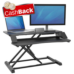 AKTION: Fellowes Monitorständer Corsivo Sitz-Steh Workstation mit CashBack
