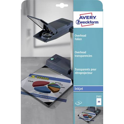 Avery-Zweckform 2503 Overhead-Projektor-Folie DIN A4 Tintenstrahldrucker Transparent 10St.