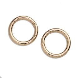 PRYM Taschenringe 35mm, new gold, 100% Zinkdruckguss, Zubehör, Taschenzubehör