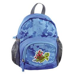DONAU Kindergartenrucksack Mini Schildkröte Kunstfaser blau