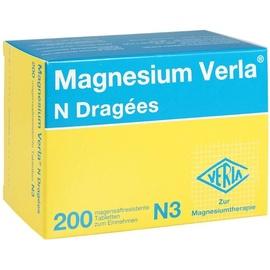 VERLA Magnesium Verla N Dragees 200 St.