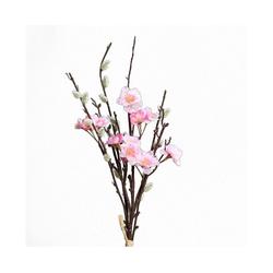 Kunstblume Pfirsichblüten-Weidenkätzchen, VBS, 43 cm rosa