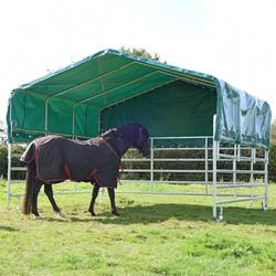 VOSS.farming Panel-Zelt - Weideunterstand  - Weidezelt 3,6 m x 4 m