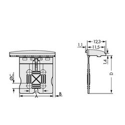WAGO 2092-1603 Griffplatte 100St.