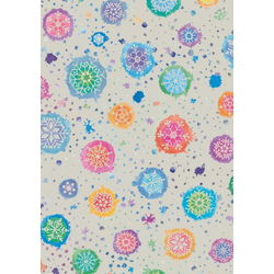 VBS Motivpapier Motivkarton Grey Line, Kristalle, 50 x 70 cm