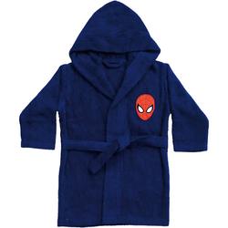 Kinder- Bademantel Spiderman dunkelblau Gr. 116/128 Jungen Kinder