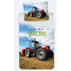 Kinderbettwäsche Traktor - Bettwäsche-Set, 135x200 & 80x80 cm, TOP!, 100% Baumwolle