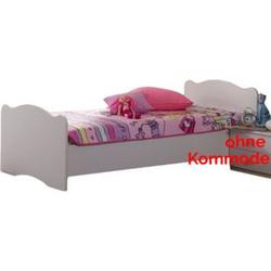 Kinderbett Blümchen 90*200 cm weiß