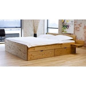 Bett mit Bettkasten - 180x200 cm - Kiefer gelaugt geölt - Schubkastenbett Norwegen