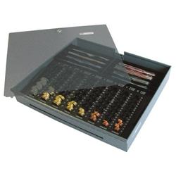 KE 85-RE-SF-D - Kasseneinsatz mit abschliessbarem Deckel für 43 E-KE-D-DA