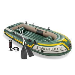 Intex Schlauchboot INTEX Boot Seahawk 3 Schlauchboot Angelboot Paddel Pumpe Boot-Set