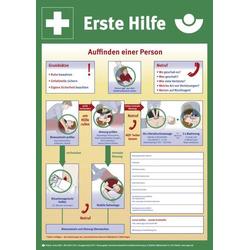 Erste-Hilfe-Schild,Aushang d. gewerb. Berufsgenossenschaft,Anleitung Erste Hilfe,Wandschild,Kunststoff,Standard