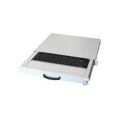 Aixcase USB US International Weiß Tastatur Industrietastatur 2m Touchpad mit zwei Maustasten (AIX-19K1UKUSTP-W)