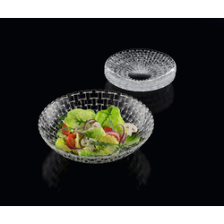 Nachtmann Servierschüssel Schalenset5 tlg Bossa Nova Schale 30cm/21, Kristallglas, (Set) beige