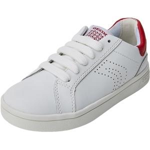 Geox Jungen J DJROCK Boy C Sneaker, Weiß (White/Dk Red), 30 EU