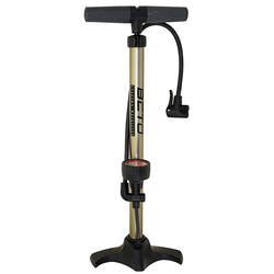 Beto Standpumpe Luftpumpe goldfarben Fahrradpumpen Fahrradzubehör Fahrräder Zubehör Pumpe