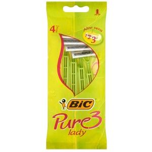 BIC Damen-Rasierer Pure 3 Lady, 2er Pack (2 x 4 Stück)