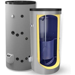 Kombispeicher kombinierter Warmwasserspeicher Standspeicher Boiler mit 1 Wärmetauscher in der Größe 300 L Liter und 3-9 kW Elektroheizstab