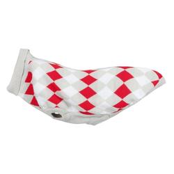 TRIXIE Hundepullover Strick Pullover Pollino kariert M - 45 cm