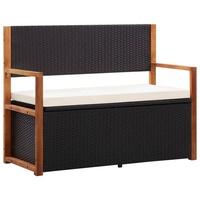 vidaXL Gartenbank 2-Sitzer Akazie Schwarz