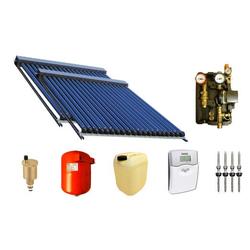 Solaranlage Warmwasser und Heizung mit 60 SWD Röhren 58/1800 (9,90m²) Edelstahl