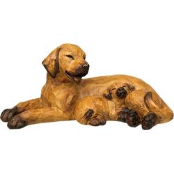 Ambiente Haus Dekofigur Hund mit Welpe, liegend