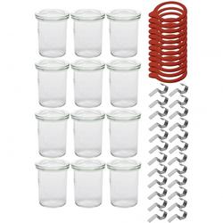 Weck Sturzgläser mit Deckel - Einmachglas 12-teilig - 160 ml - Einweckglas inkl. Gummiringe