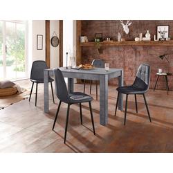 Essgruppe (Set, 5-tlg) schwarz Essgruppen Tische Sitzmöbel-Sets