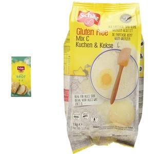 Schär Mix B - Brot Mix Backmischung glutenfrei 1kg, 10er Pack & Mix C - Kuchen & Kekse Backmischung glutenfrei 1kg, 10er Pack