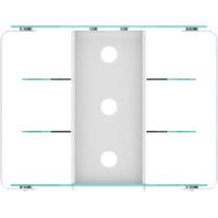Jahnke CU-MR 100 LED TV-Rack Klarglas/Alu