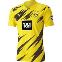 Puma Herren T-Shirt BVB Home Authentic Shirt SS w.Sponsor New, Cyber Yellow-Puma Black, XL,