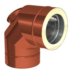 Ø 80 mm Jeremias DW FU Winkel 90° mit Reinigungsöffnung für Öl und Gas