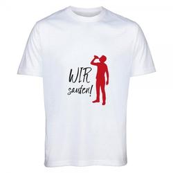 "T- Shirt Standard Junggesellenabschied ""WIR saufen"""