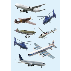 HERMA 3442 10x Sticker DECOR Flugzeuge