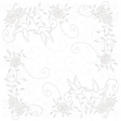 "Mank Airlaid Servietten Festival ""Hochzeit"", 40 x 40 cm, 1/4 Falz, 60 g, Farbe: hellgrau-silber, 1 Karton = 6 x 50 Stück = 300 Servietten"