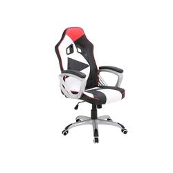 Woltu Gaming-Stuhl Racing Stuhl mit Armlehnen & Wippmechanik aus Kunstleder Modell Gina