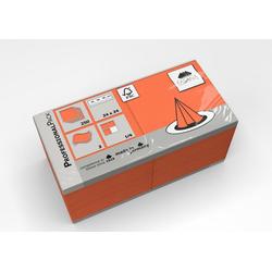 Fasana Papierserviette Serviette 24 x 24 cm 3 Lagig 1/4 Falzung orange
