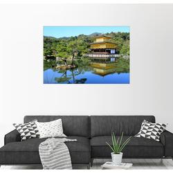 Posterlounge Wandbild, Kinkakuji Tempel (Goldener Pavillon) 90 cm x 60 cm