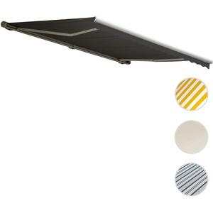 Elektrische Kassetten-Markise T122, Vollkassette Volant 4x3m ~ Polyester Anthrazit