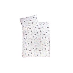Julius Zoellner Jersey Bettwäsche in weiß mit Muster Crazy Animals, 100 x 135 cm