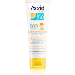 Astrid Sun Baby Bräunungscreme für Kinder SPF 50 wasserbeständiger 75 ml