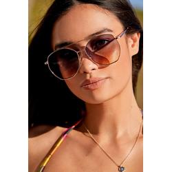 Next Pilotenbrille Sechseckige Sonnenbrille im Piloten-Stil