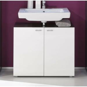 Waschbeckenunterschrank Waschtisch weiß Hochglanz grau Bad Schrank 70 cm Tetis
