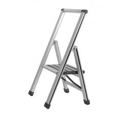 Klapptrittleiter 1-stufig Aluminium grau Wenko 601010100 (BHT 44x73x5,5 cm) Wenko