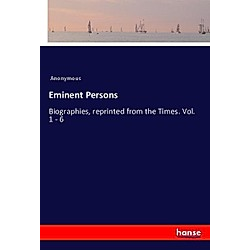 Eminent Persons. Anonym  - Buch